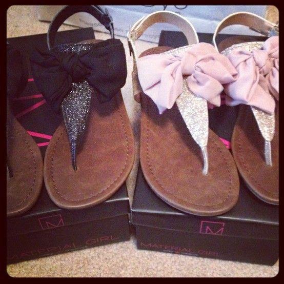 : Material Girls, Bow Sandals, Girls Bows, Bows Ties, Flat Sandals, Girls Shoes, Bows Sandals, Flats Sandals, Materials Girls