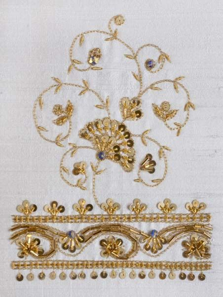 Goldwork Motifs from an Indian Wedding by Michele Roberts ~ 2011 Exemplary Ribbon Winner - First Place ~ National Academy of Needlearts