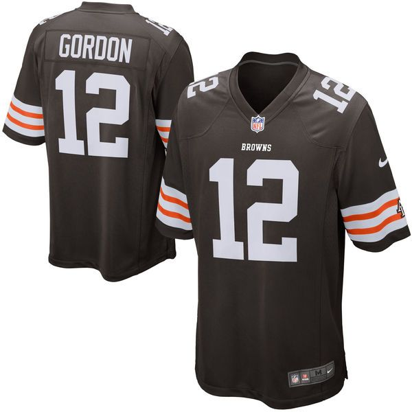 Josh Gordon Cleveland Browns Historic Logo Nike Game Jersey - Brown - $54.99