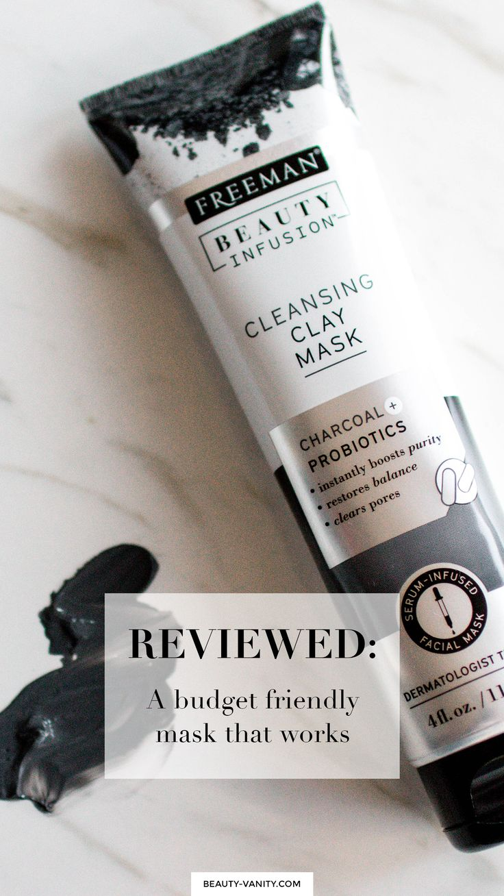 Drugstore Dupe | Drugstore Clay Mask | Freeman Beauty Beauty Infusion Cleansing Clay Mask Charcoal & Probiotics Review | The Beauty Vanity @freemanbeauty #freemanbeauties #ad #freemanmask