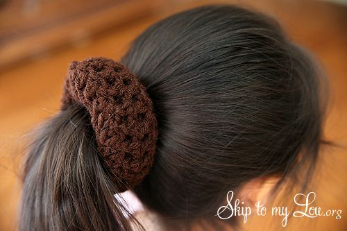 how to make a bun in hair step 2 Crochet today! Pinterest