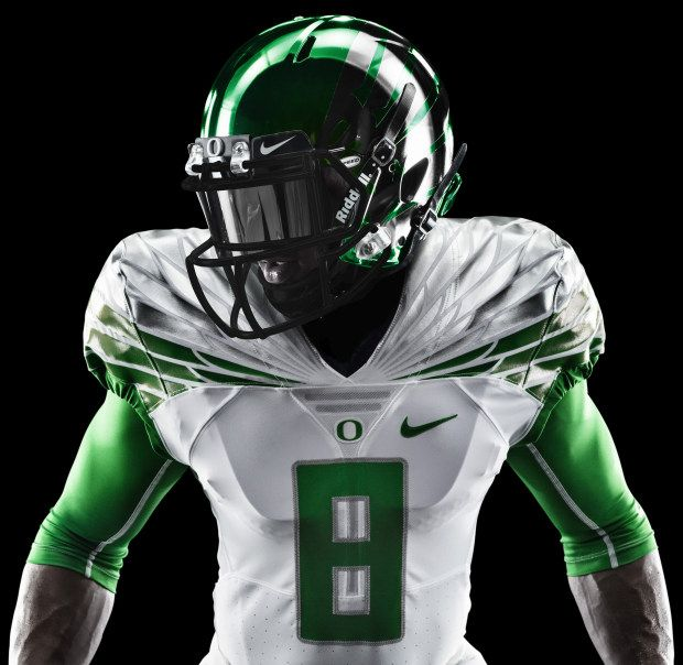 Oregon Ducks Football Helmets 2014 2014 Oregon Ducks Whit...