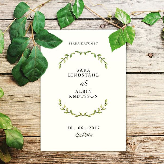 Enkelt är också fint! 🌿  ___________________________________________ #savethedate #savethedates #weddingstationary #weddinginvitation #weddingday #bröllop #weddings #bröllopstrycksaker #bröllopsinspiration #weddingprints #weddingidea #weddinginvites