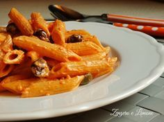 pasta cremosa capperi olive - need an English translation! This looks great!