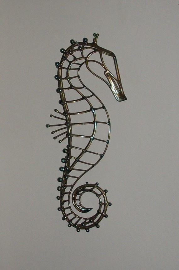 Metal Sea Horse wall art by southpawmetalworks on Etsy, $150.00