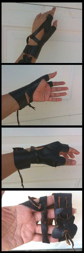 Left Archery Glove Made by ~Talzhemir1 on Deviant Art. Free pattern link in the description.