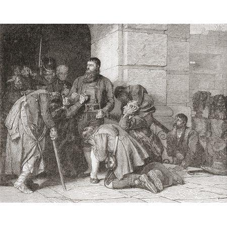 Andreas Hofer Just Before His Execution Andreas Hofer 1767 Canvas Art - Ken Welsh Design Pics (17 x 13)