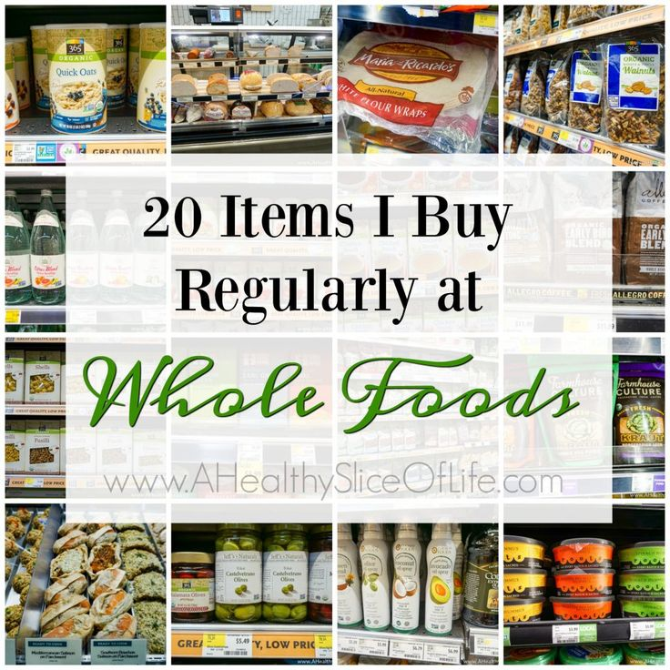 20 must have items I buy regularly from Whole Foods and 8 Tips for Meal Planning Success.