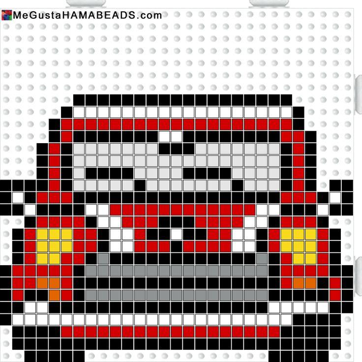 Mini Cooper hama perler beads pattern