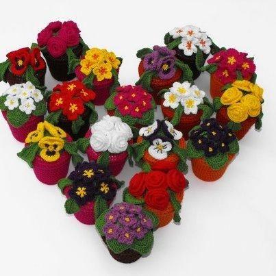 31 best macetas deco crochet images on pinterest | pots, crochet
