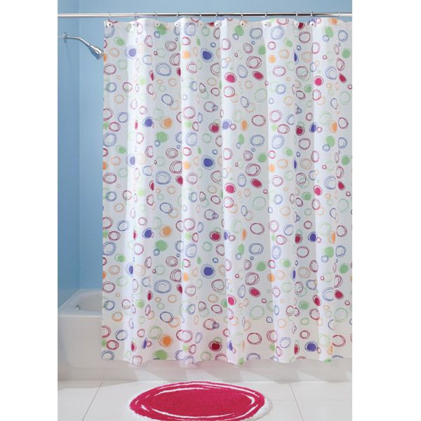 bright doodle shower curtain cool shower curtain