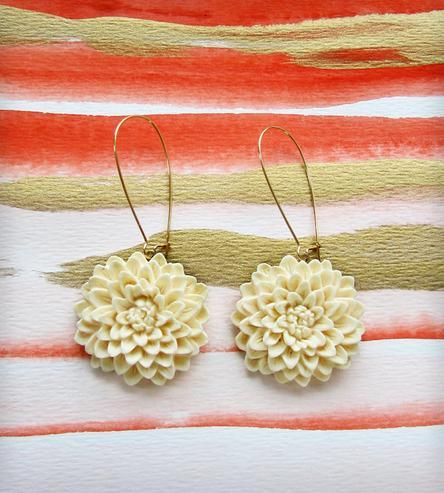 Lotus Earrings by Luna Litka on Scoutmob Shoppe