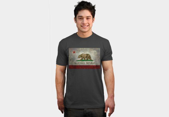 California Republic state flag T-Shirt - Design By Humans #california #californiarepublic #californiaflag