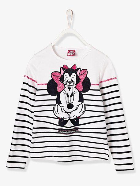 50c00d0b81138 Girls  Striped Minnie® Top - WHITE LIGHT STRIPED - 1