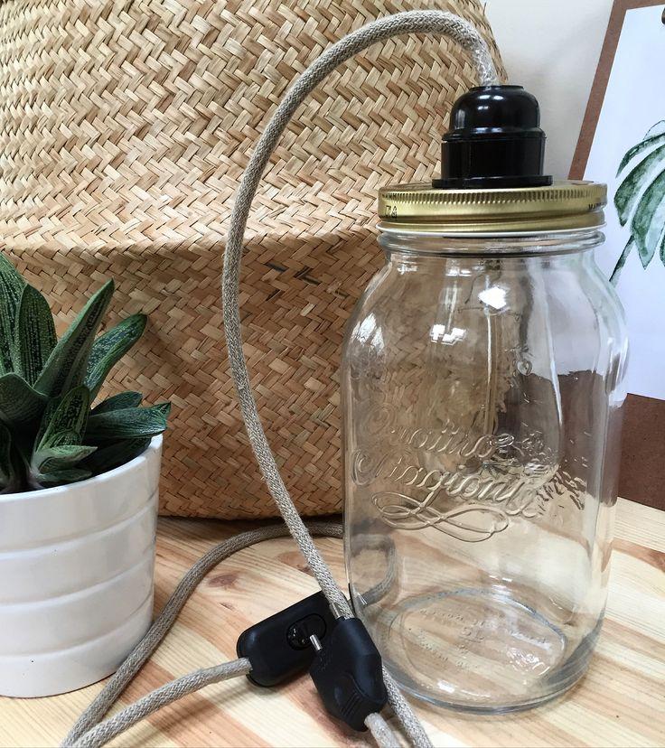 Lampe de table rétro (fil naturel) 0