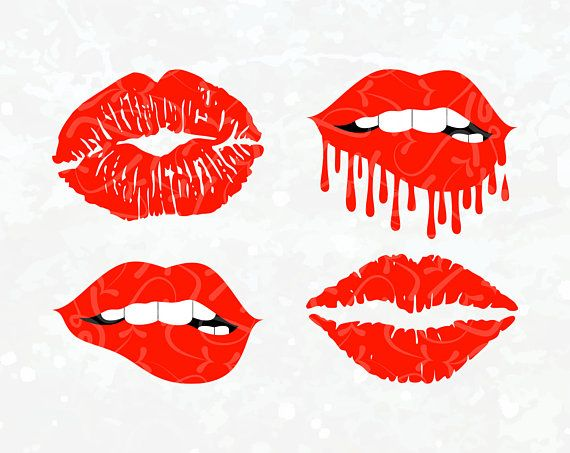 Mouth Svg Dripping Lips Svg Biting Lips Svg Red Lips Fashion Lips