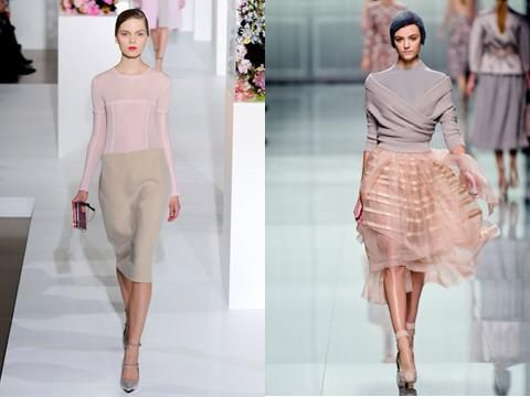 - Pastel winter: Popular trend for Spring-Summer 2012, it remains a sparkling fashion for Fall/Winter 2012.