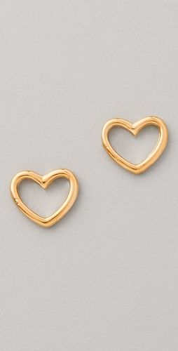 marc by marc jacobs love edge stud earrings // so cute for valentine's day!
