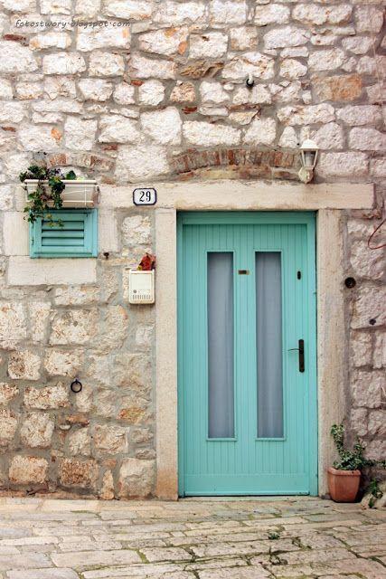 drzwi, door, Rovinj, Croatia, Chorwacja