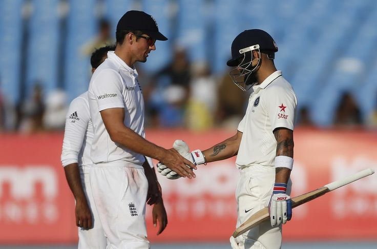 #England almost came on the verge of winning the first test but India managed a hard-fought. #Vira #Kohli stands strong as Rajkot Test ends in draw.  Play Fantasy Cricket for the next Test of #INDIAvsENGLAND and won 5,000 Above Guaranteed CASH @ https://www.draftindia.in