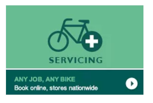 "This is the bike service logo used by Evans Cycles. Tying together a bicycle with a first aid logo automatically suggests bicycle maintenance even with the need for ""servicing"" to clarify it."