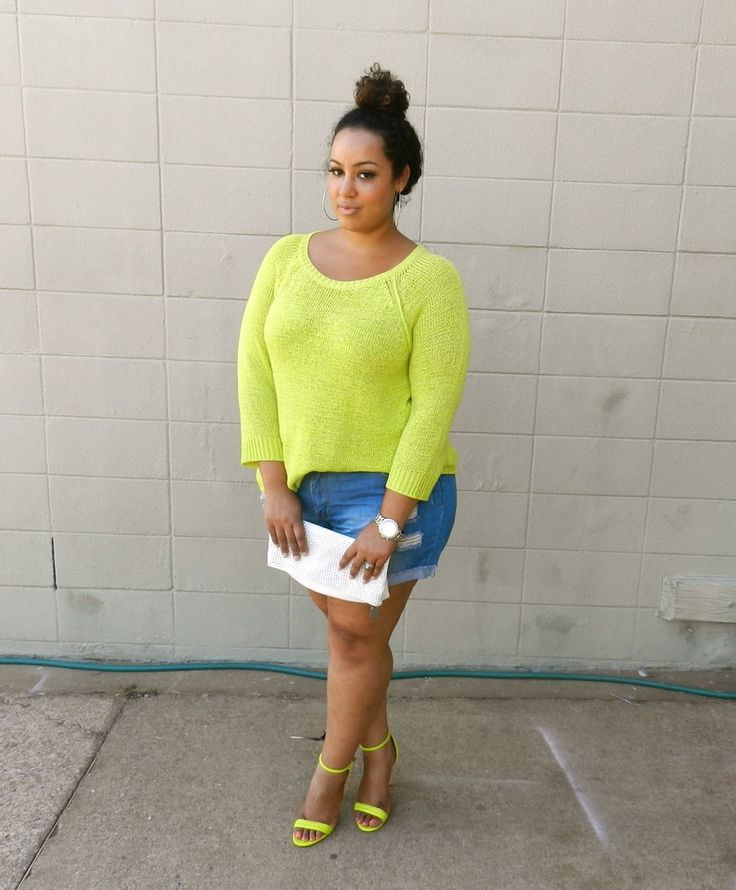 Neon And Shorts Curvy Thick If You Follow My Curvy Girl 39 S Spring Summer Closet Make Sure To