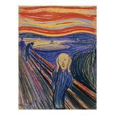 De Schreeuw (Munch) - . De zeggingskracht geemotioneerd (wordt benadrukt door de compositie en de kleur)