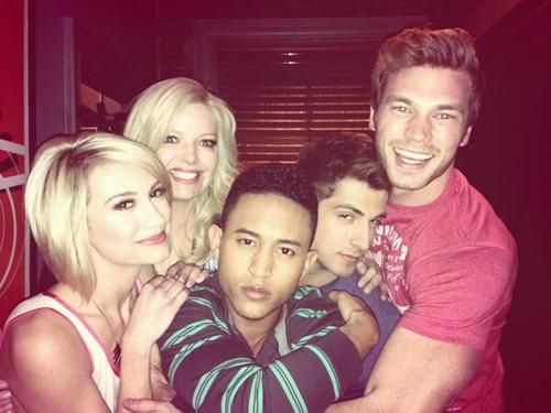 ABC Family's Baby Daddy cast: Chelsea Kane, Melissa Peterman, Tahj Mowry, Jean-Luc Bilodeau & Derek Theler