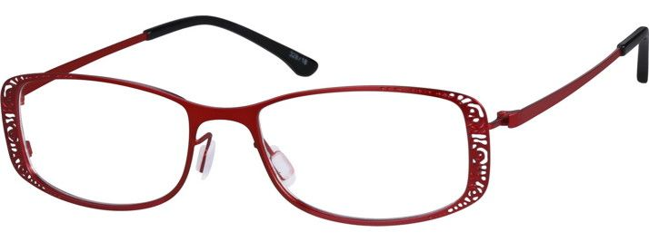 Order online, women red full rim stainless steel rectangle eyeglass frames model #328718. Visit Zenni Optical today to browse our collection of glasses and sunglasses.