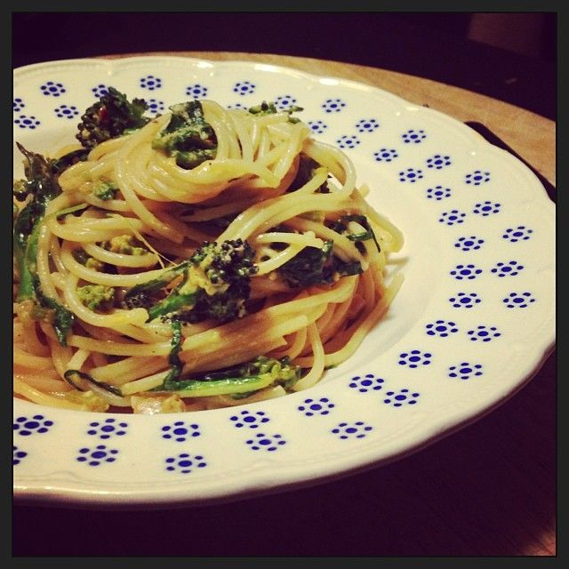 vegetarische spaghetti carbonara   JONGE SLA