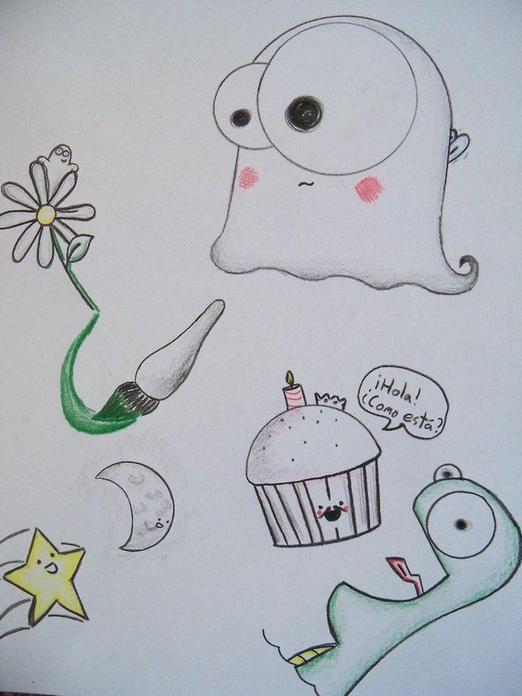 doodles simple random doodle drawings drawing kawaii easy deviantart google class sketches monster lorraine sorlet patterns weird illustrations simples doodling