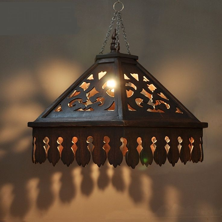 189.00$  Watch here - http://alit5k.shopchina.info/go.php?t=32810732899 - Bohemia Southeast Asian pendant lights creative bar restaurant balcony personality retro solid wood carved pendant lamps ZA  #buychinaproducts