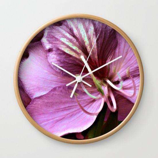 Purple flower(3) Wall Clock