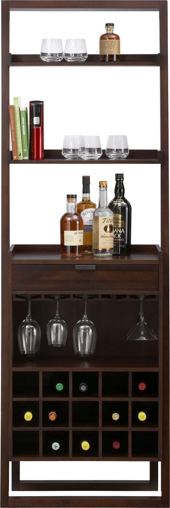 Sloane Java Leaning Wine Bar  | Crate & Barrel