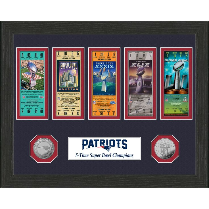 NFL New England Patriots 5-Time Super Bowl Champions Ticket Collection