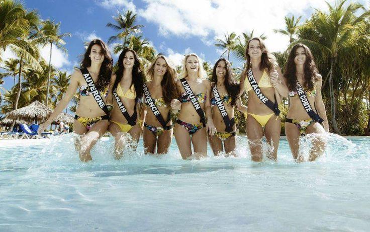 Les Miss France 2015 en Bandeau Bahia et Bikini Triangle Jaune Soraya