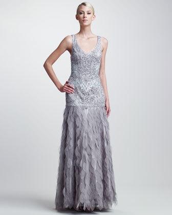 Women's Sue Wong Beaded Organza-Skirt...    $690.00