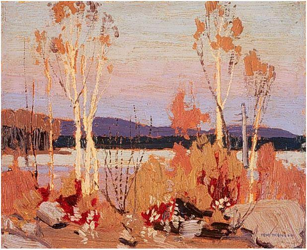 Tom Thomson Catalogue Raisonné | Birches, Spring 1916 (1916.70) | Catalogue entry
