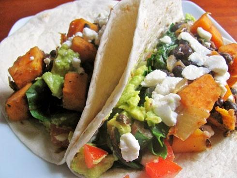 Chipotle Sweet Potato Tacos: Rainbow Chard, Mr. Tacos, Chipotle Sweet, Chard Tacos, Tacos Recipes, Rainbows Chard, Tasti Recipes, Sweet Potatoes Tacos, Hot Sauces