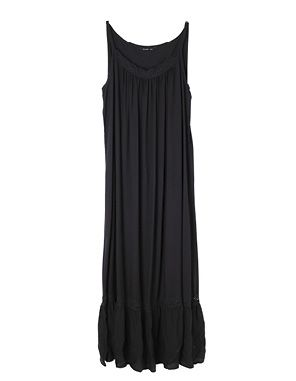black maxi with lace trim