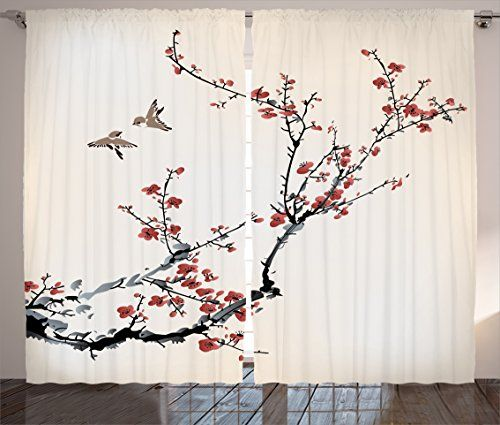 Japanese Curtain House Decor by Ambesonne, Cherry Branche... https://www.amazon.com/dp/B01IFIWM3Q/ref=cm_sw_r_pi_dp_x_Z9NnzbE7G41XN