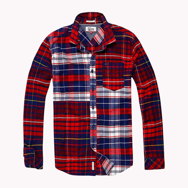 Image for Cotton Flannel Relaxed Fit Shirt from TommyUK