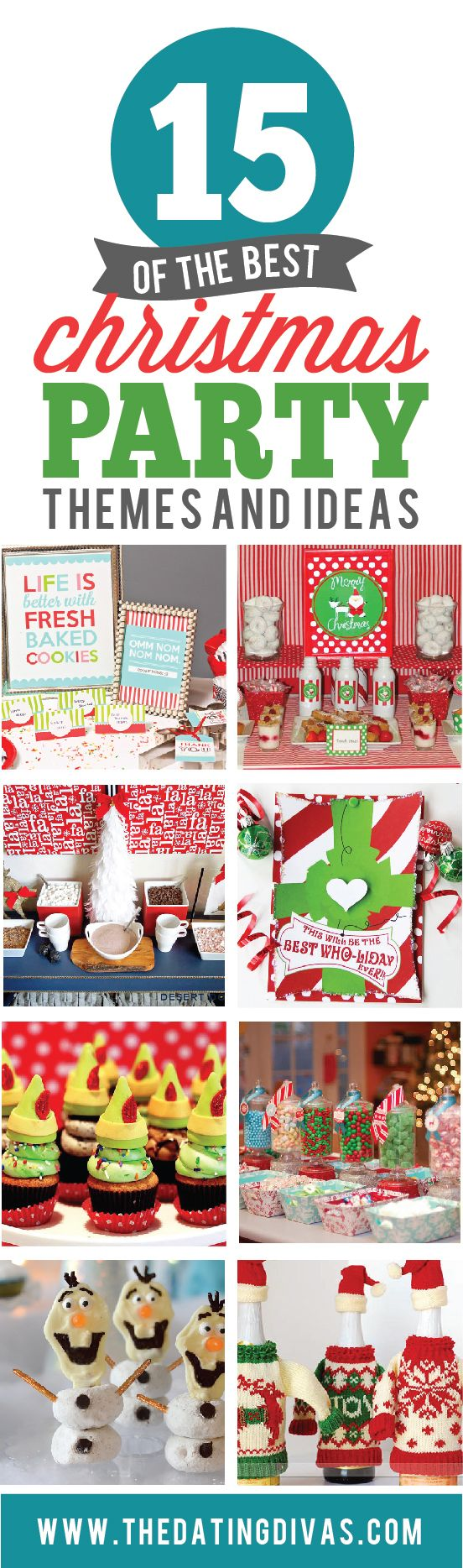 15 Christmas Party themes to make your holiday season unforgettable! www.TheDatingDivas.com