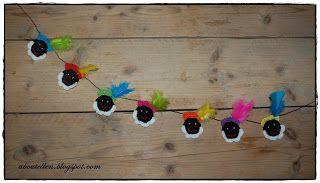 DIY crochet Pietjesslinger (Sinterklaas craft) by Het creatieve zolderkamertje.