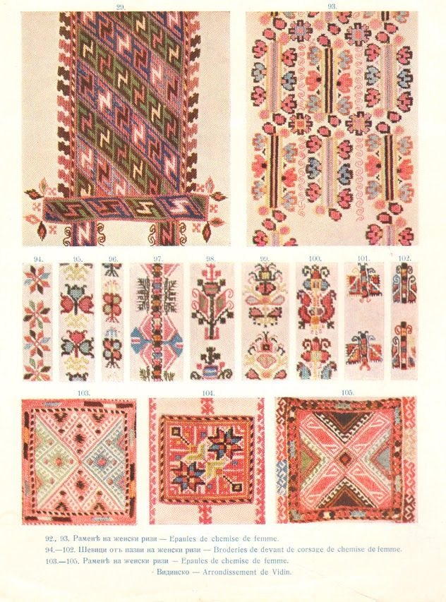 Embroideries on women's chemises, Vidin