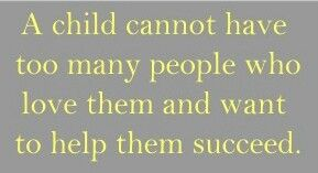 This is why step parents can be a 'bonus'. More love, more help, more success. Parents & bonus parents should be a TEAM for their kids -children & adult children w/grandkids. #familymatters