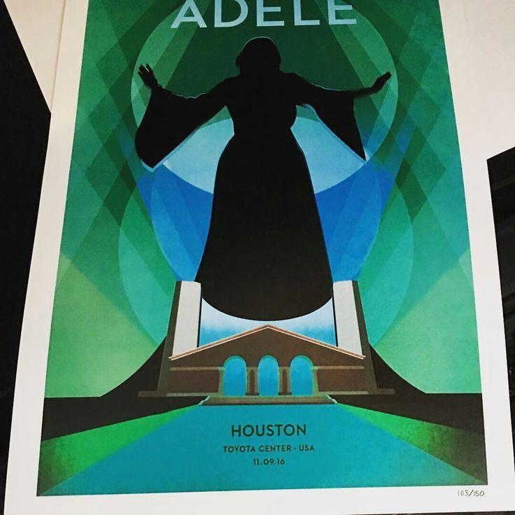 Adele at 'Toyota Center', Houston, Texas (Nov. 08) poster #AdeleLive2016