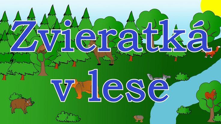 Zvieratká v lese - animované zvuky zvierat pre deti a najmenších - zvuky zvierat žijúcich v lese