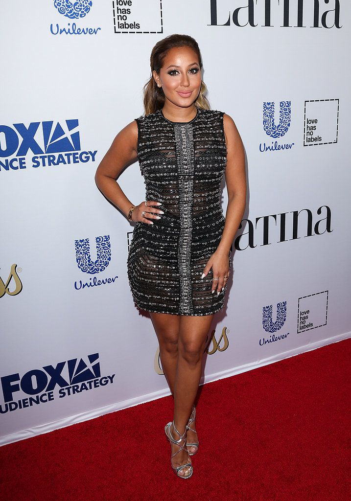 Adrienne Bailon stopped by Latina magazine's Hot List Party in Hollywood, CA, on Oct. 5, and definitely brought the heat.