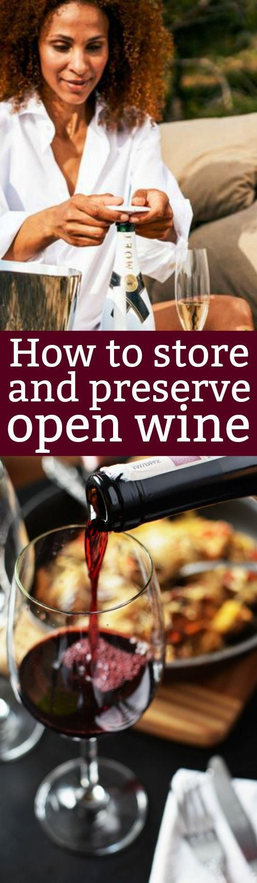 How To Store Open Wine- Never Waste An Open Bottle Of Wine Again! Preserve Your Wine for Optimal Taste and Freshness #ad #zzysh®